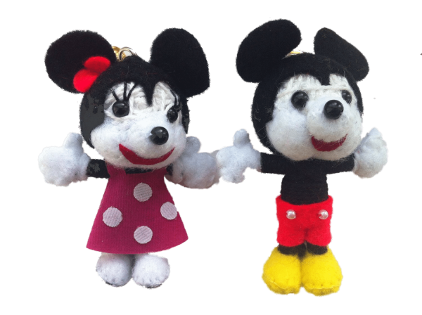 Mickey & Minnie Mouse String Doll set